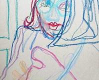 Self-Portrait-by Aleksandra Smiljkovic Vasovic aleksandraartworkcom