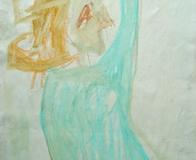 Turquoise-Drawing-by Aleksandra Smiljkovic Vasovic aleksandraartworkcom