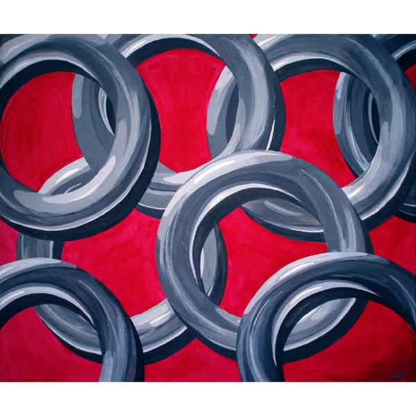 Links, acrylic on canvas, 2008, 60/50 cm
