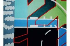 Layers, acrylic on canvas, 1998, 145/160 cm