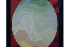 Oval Painting, oil on canvas, 2001, 40/50 cm