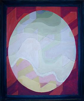 Oval-Paintings-by-Aleksandra Smiljkovic Vasovic aleksandraartworkcom