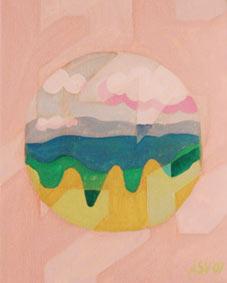 Pink Landscape by Aleksandra Smiljkovic Vasovic aleksandraartworkcom