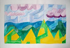 Gobelin of the Landscape by Aleksandra Smiljkovic Vasovic aleksandraartworkcom