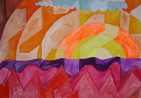 Sunset by Aleksandra Smiljkovic Vasovic aleksandraartworkcom