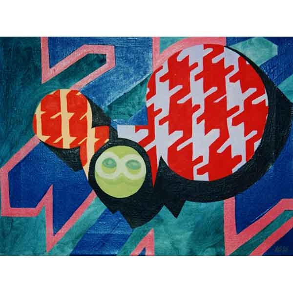 Lapels, oil on canvas, 1995, 40/30 cm
