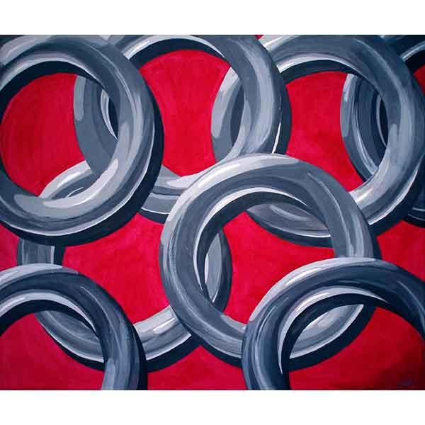 Links, acrylic on canvas, 2008, 60/50 cm