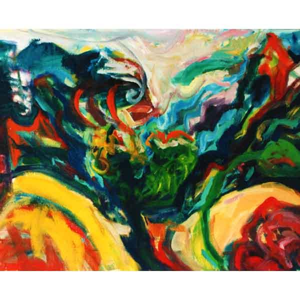 Spanish-Landscape, oil on canvas, 1991, 90/60 cm