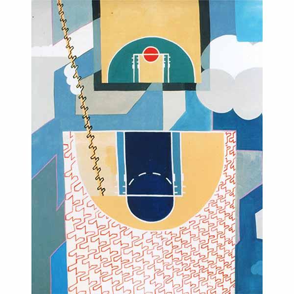 Terrains, acrylic on canvas, 1998, 145/170 cm