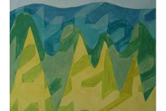 Mountains, oil on canvas, 2003, 70/80 cm
