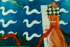 Swimming-Pool, oil on canvas, 1993, 159/144 cm
