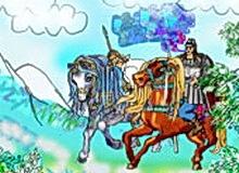 Kraljevic-Marko-Illustration-1-by-Aleksandra-Vasovic